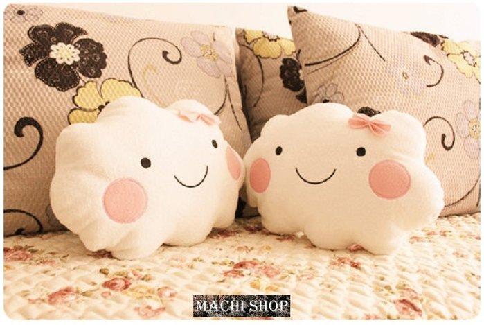 【現貨】日韓流行 可愛笑臉雲朵抱枕 靠墊 午睡枕 [ MACHI SHOP ]