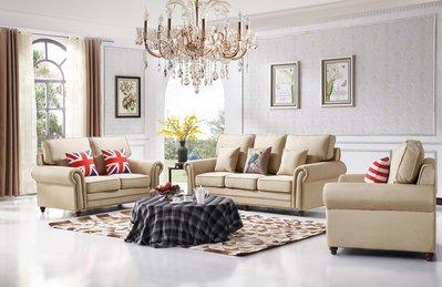 【大熊傢俱】A71 玫瑰系列歐式 美式皮沙發 絨布沙發  歐式沙發 皮沙發 布沙發