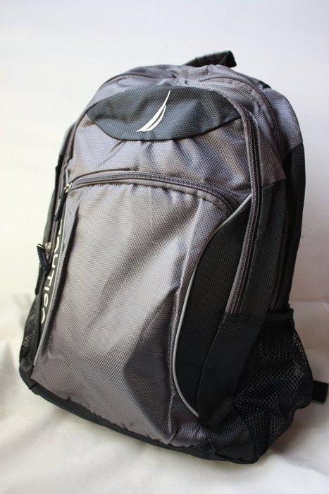 現貨【NAUTICA】100% 全新正品 超實用 多功能 後背包 電腦包 書包 / 灰色【適A4文件】BP05