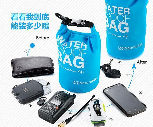 NatureHike衝浪袋溯溪袋防水袋手機袋錢包證件數位相機袋PORTER袋 防雨包 漂流袋防水包