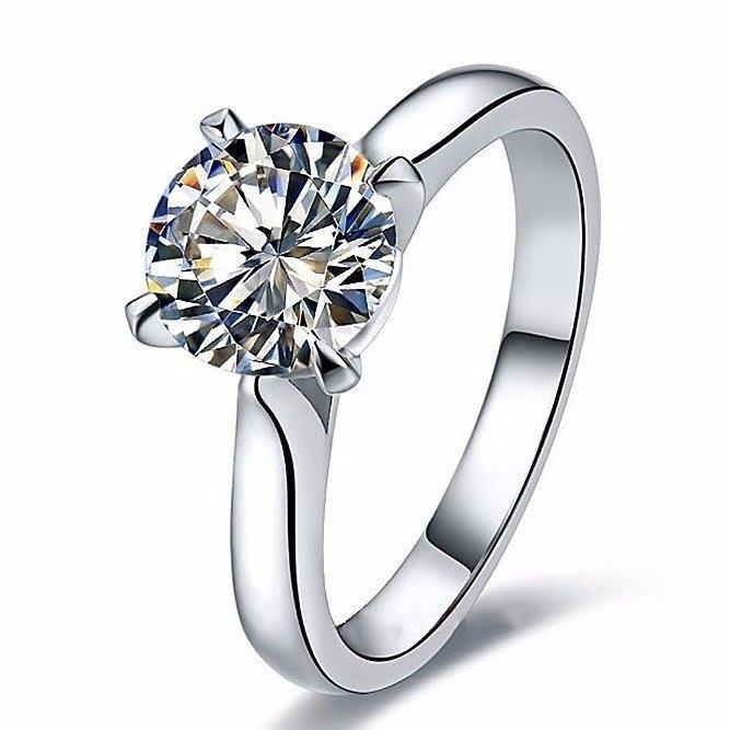 1克拉國產莫桑鑽卡家4爪14k金包鉑金鑲鑽戒求婚 結婚 情人節禮物 莫桑石  FOREVER鑽寶訂製