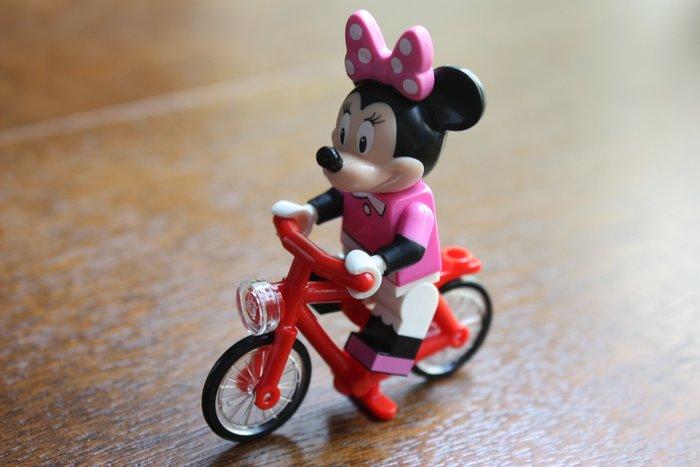 現貨【LEGO 樂高】全新正品 超可愛樂高LEGO人偶專用腳踏車~附平面透明頭燈(無附人偶)71012 | 紅色腳踏車