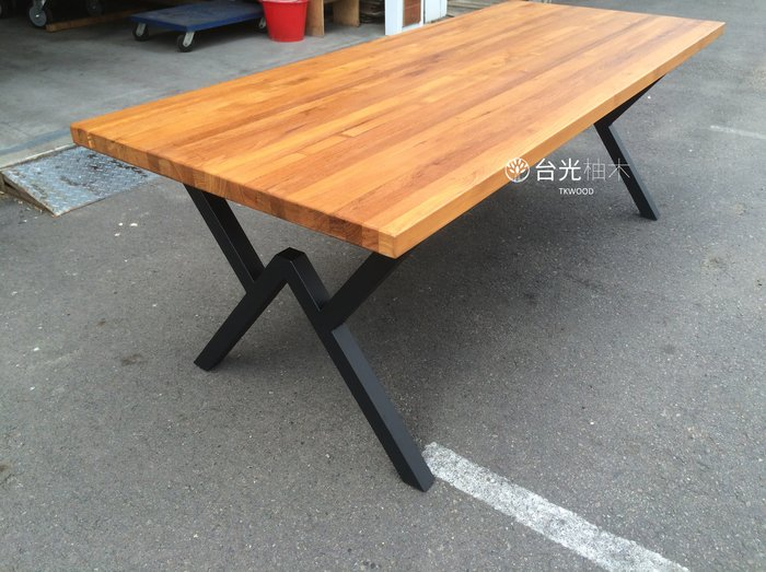 【緬甸柚木-TKWOOD】客製化鐵腳/桌腳/椅腳-火造型