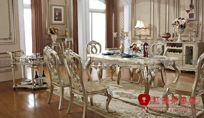 [紅蘋果傢俱] LM-208B 維西莉亞系列 餐桌 全實木長餐桌 桌子 (另售餐椅) 數千坪展示