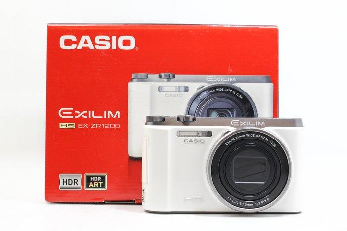 【高雄青蘋果3C】CASIO EX-ZR1200 白 自拍美顏相機 二手數位相機 #23756