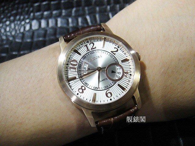 【靚錶閣】超薄玫瑰金日期 /星期素雅品味錶