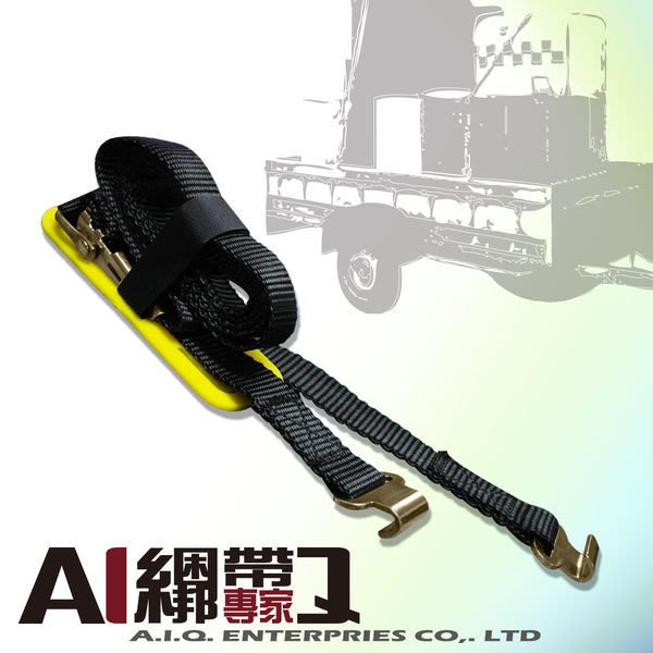 A.I.Q.綑綁帶專家- LT1103 農用.居家.汽車快速綁帶25mm x2M W/FHOOK (黑色)