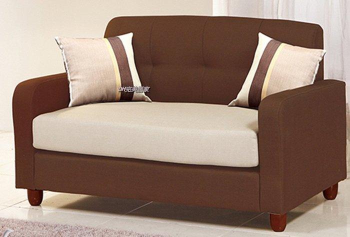 【DH】商品貨號VC643-2品名稱《橋橋》咖啡色布雙人沙發。備有紫色,藍色。簡約優雅設計。新品特價~