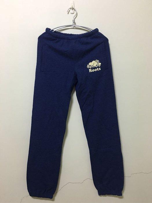*小熊愛敗家* 全新 ROOTS 原創款藍色雙口袋休閒棉褲