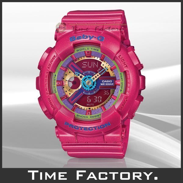 時間工廠 無息分期 CASIO BABY-G 少女時代 Tiffany 佩戴 BA-112-4 (BA 112 4 A)