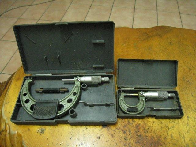 日本 Mitutoyo 三豐 外徑測微器(103-137) 0-25mm 103-140 兩支一起賣(2手品)