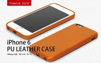 尼德斯Nydus~* 日本正版 PGA 皮革質感 皮套 手機殼 保護殼 孔位精準 iPhone6 4.7吋 咖啡色