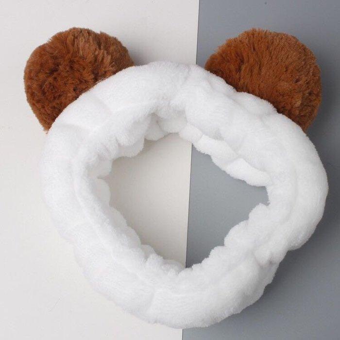 🍬SS Beauty 🍬韓國飾品 交叉髮帶 運動 洗臉 卸妝 彈力 鬆緊 頭飾 兔耳朵 熊耳 毛球 賣萌 髮帶 寬邊