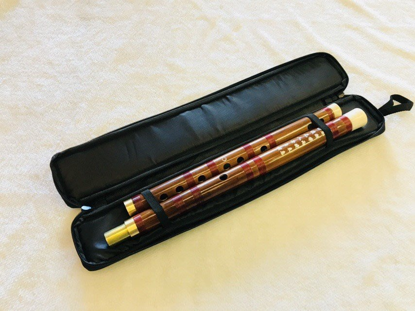 【老羊樂器店】中國笛 單支裝 雙節 C調 D調 笛袋 中國笛袋