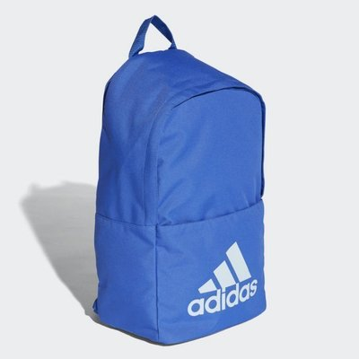 # adidas Classic Backpack 愛迪達 藍白色 三葉草 運動後背包 休閒 CG0517 YTS