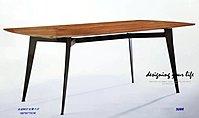 【設計私生活】5086胡桃6尺餐桌...