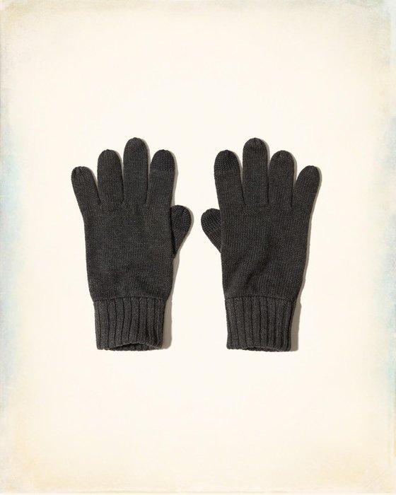 【天普小棧】HOLLISTER HCO Knit Tech Gloves科技毛線針織手套可觸控螢幕深藍