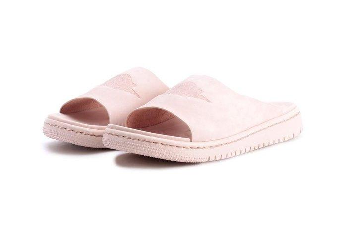 =CodE= NIKE WMNS JORDAN MODERO 1 鋼印麂皮拖鞋(粉紅) AO9919-200 AIR 女