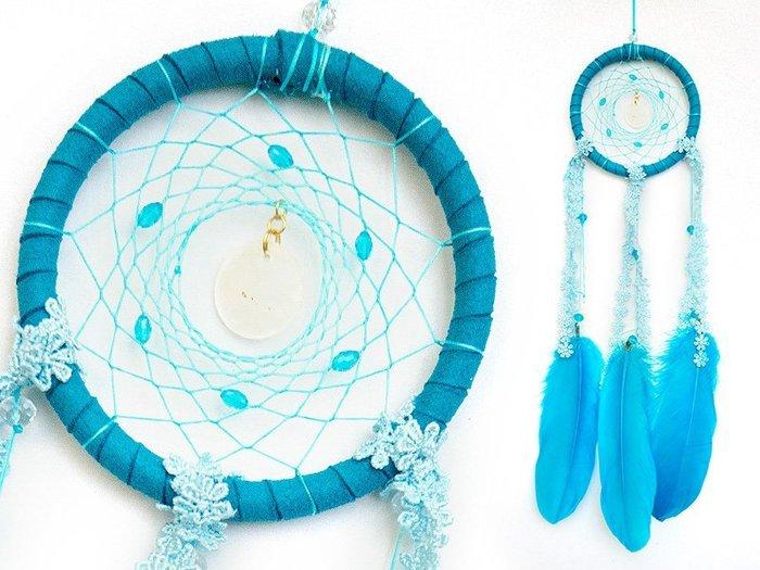 捕夢網 DIY材料包✿土耳其藍色✿『繼承者們款式』聖誕節禮物、情人節禮物、交換禮物、生日禮物、畢業禮物