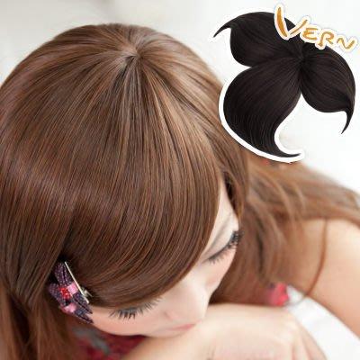 韋恩假髮髮片-頭頂式斜瀏海-遮白髮/蓋...