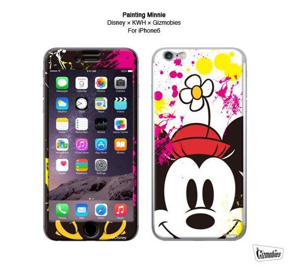 GOODFORIT/ 日本Gizmobies Disney Painting iPhone 6/6S迪士尼米妮保護貼
