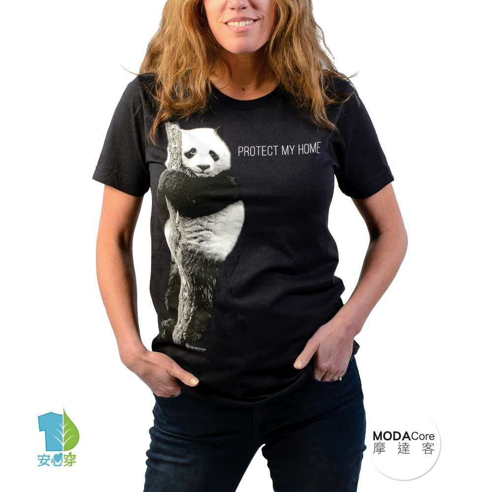 【摩達客】美國The Mountain保育系列 熊貓的家中性短袖紀念T恤 柔軟舒適高級混紡