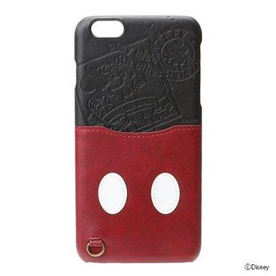 尼德斯Nydus~* 日本迪士尼 手機殼 保護殼 皮套 經典米奇 吊飾環 5.5吋 iPhone 6/6S+ Plus