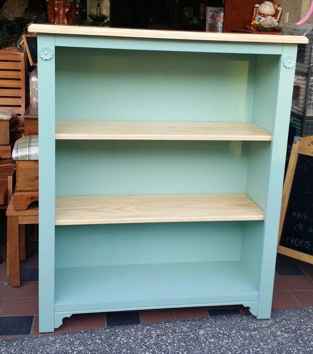 美生活館--全新鄉村田園地中海普羅旺斯風格 茵儷 雙色 開放三層書櫃 書架 展示櫃玄關櫃碗櫃 店面民宿居家可修改尺寸顏色