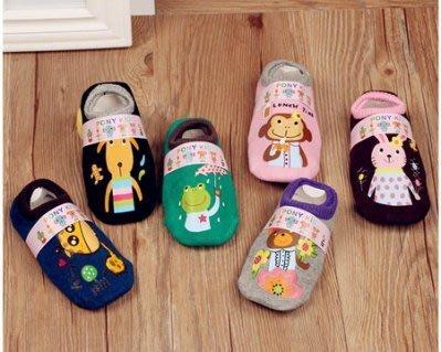 哈樂購~【萌萌兒童印花襪】韓國新款全棉可愛卡通男女兒童襪子 寶寶防滑地板襪 矽膠底防滑襪 冬天寶寶室內拖鞋