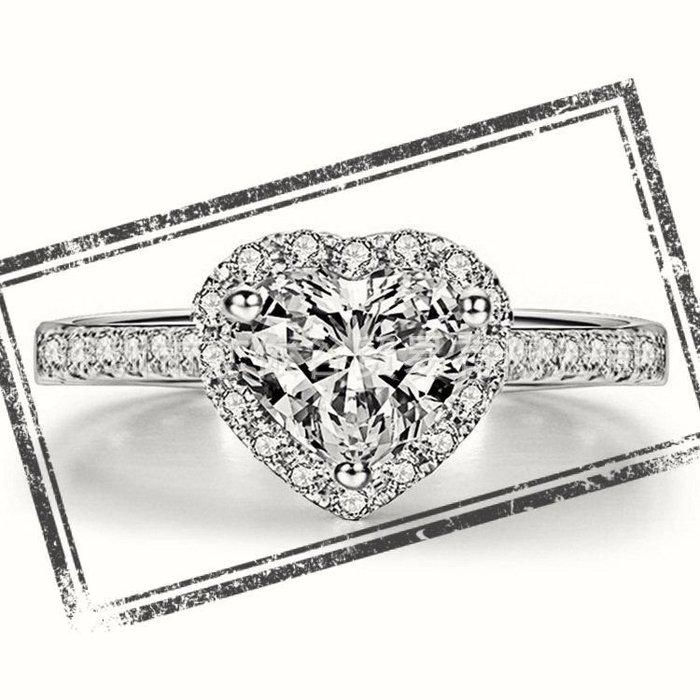國產莫桑鑽18k金包鉑金戒檯 鑲D色心型三克拉莫鑽石戒指保證通過測鑽筆求婚 結婚 情人節禮物 摩星鑽  ZB鑽寶訂製