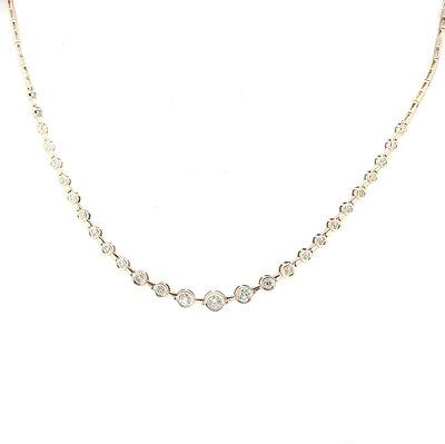 【JHT 金宏總珠寶/GIA鑽石專賣】1.00ct天然鑽石套鍊/材質:18K(JB41-A46)