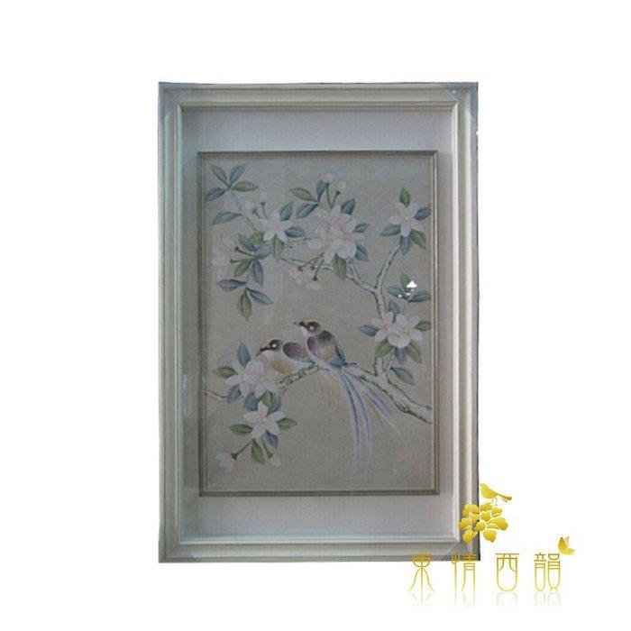 【芮洛蔓 La Romance】東情西韻系列手繪櫻花花鳥絹絲畫飾 / 掛飾 / 壁飾