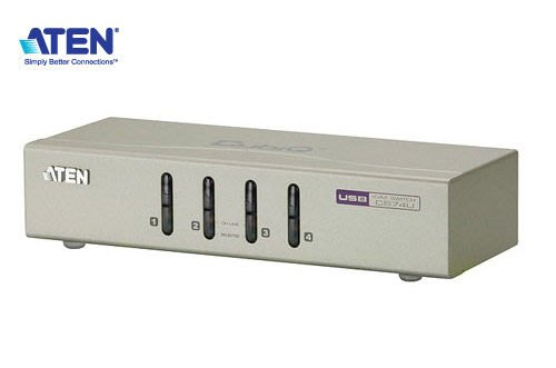【開心驛站】ATEN宏正 CS74U 4埠桌上型切換器(2048x1536/USB/SP/麥克風)