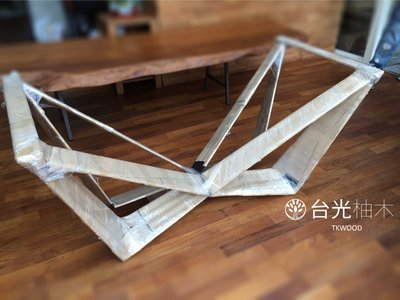 【緬甸柚木-TKWOOD】客製化鐵腳/桌腳/椅腳-W造型