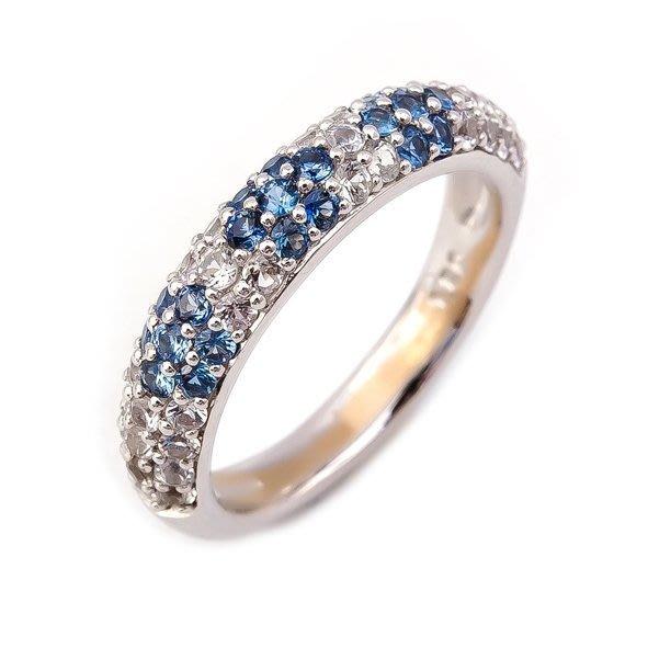 【JHT 金宏總珠寶/GIA鑽石專賣】1.20克拉天然藍寶水晶戒指/18K(JB38-C22)