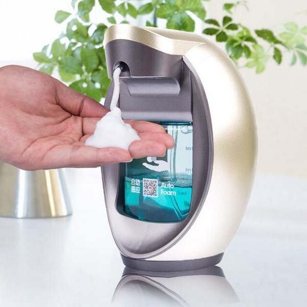智能泡沫洗手液機 自動皂液器 感應洗手液瓶子皂液盒壁掛式
