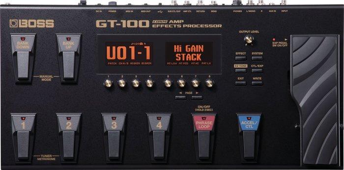 【六絃樂器】全新 Boss GT-100 Ver.2 電吉他綜合效果器 最新2.0版本 / 加送原廠背袋
