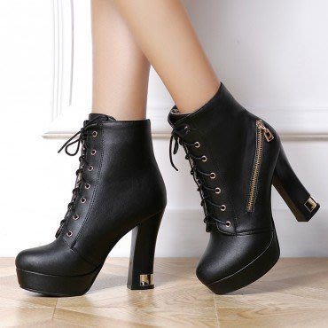 yes99buy加盟-純色防水台높은超高跟短筒女靴