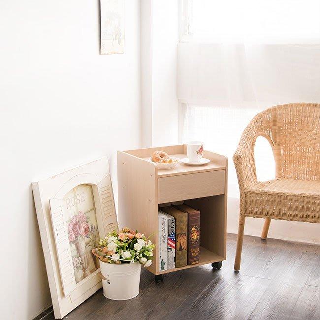 臥室 客廳 書房 【居家大師】辦公附輪單抽收納文件櫃 邊櫃 床頭櫃 置物櫃 收納櫃 櫃子 BO015
