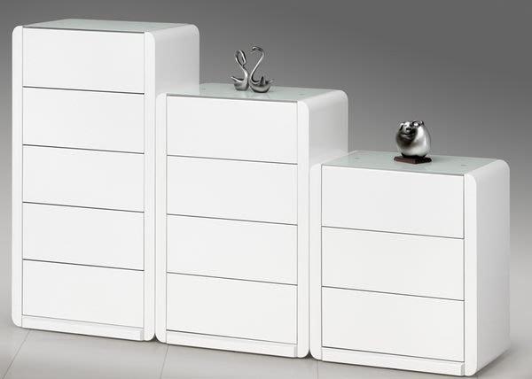 【DH】貨號Q833ES《安緹諾》白色烤漆三斗櫃˙多尺寸˙質感一流˙潔白設計˙主要地區免運