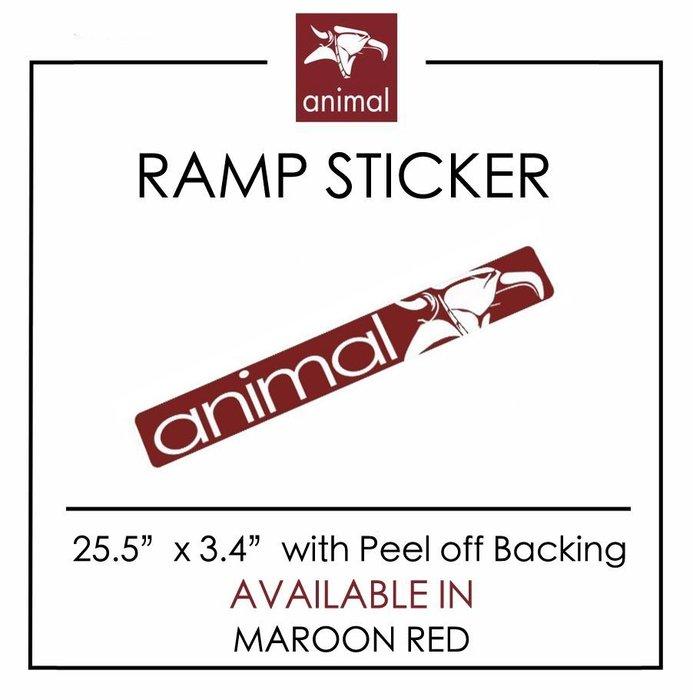 Spun Shop  Animal Bikes R Sticker 大型防水貼紙