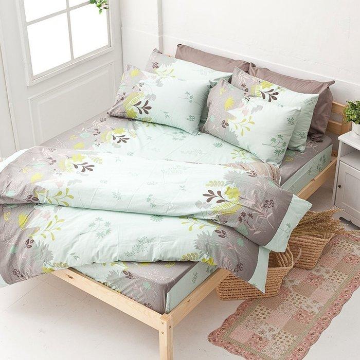 床包 / 雙人【香草綠】含兩件枕套  100%純棉  戀家小舖台灣製AAC201