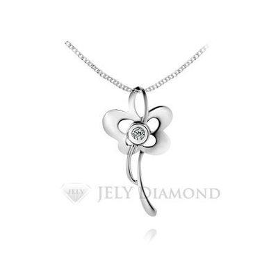《JELY時尚館》【JELY Diamond】花樣女伶---3分天然真鑽石項鍊 §會員終生獨享交換維修優惠§