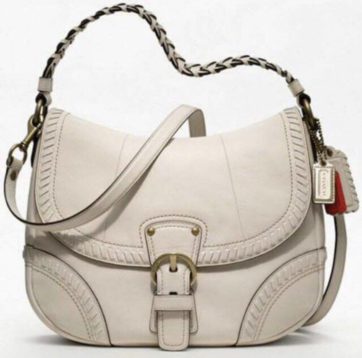 COACH POPPY系列 米白色  肩背包 斜背包 兩用包 全新 現貨