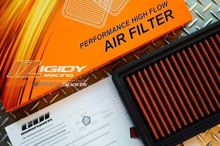RIGIDY 原廠對應型 高流量 HYUNDAI TUCSON 04-UP 高功率進氣濾網 優惠大回饋 / 制動改