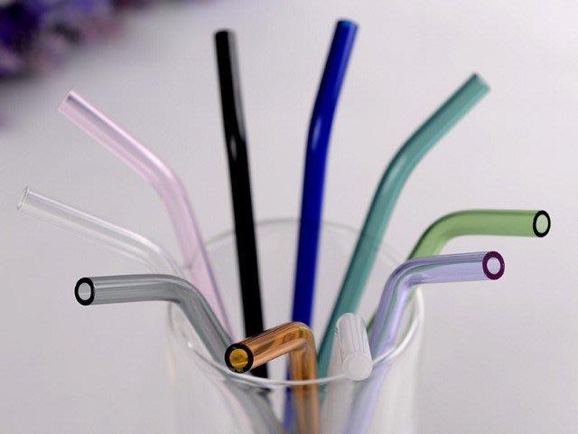 一起愛地球♥多色玻璃吸管♥環保吸管 彩色吸管 折彎吸管 任購3支吸管即贈清潔刷♥買多送多
