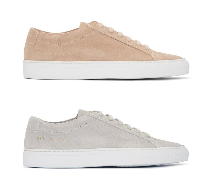 [全新真品代購-S/S18 SALE!] COMMON PROJECTS 麂皮 休閒鞋