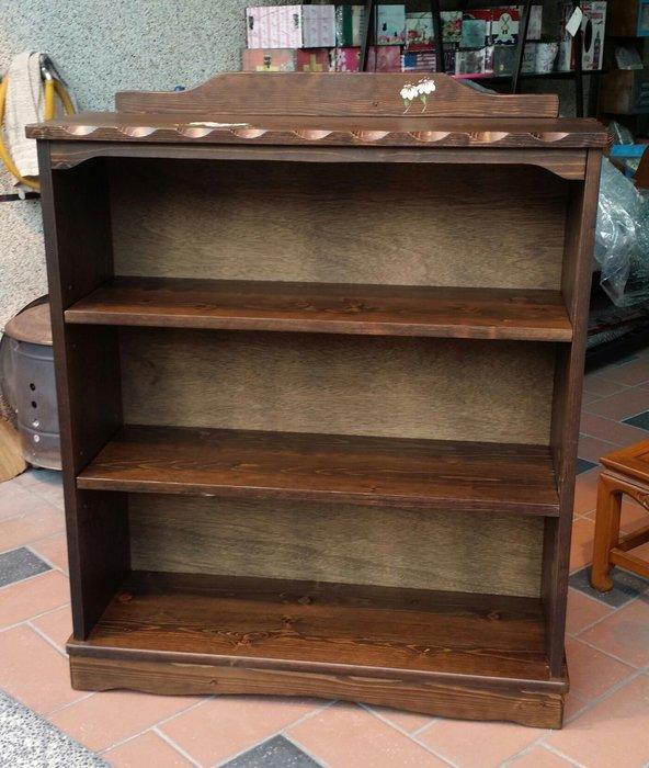 美生活館---全實木鄉村風家具--彩繪瑪格麗特開放三格書櫃/書架/雜誌架