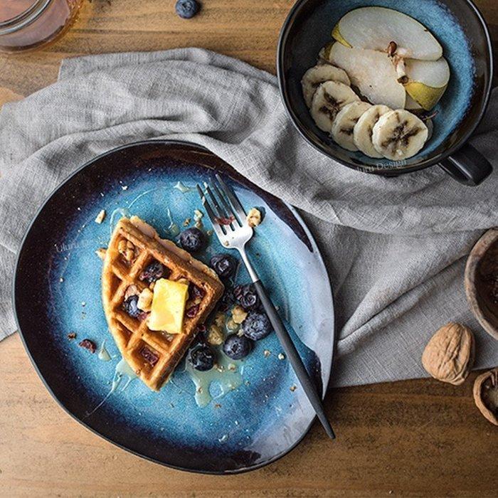 不規則蛋型 點心碟 超美 蛋糕盤 甜點碟 早餐盤 沙拉盤 土耳其藍 創意 美食攝影 歐式 美食部落客 小碟子