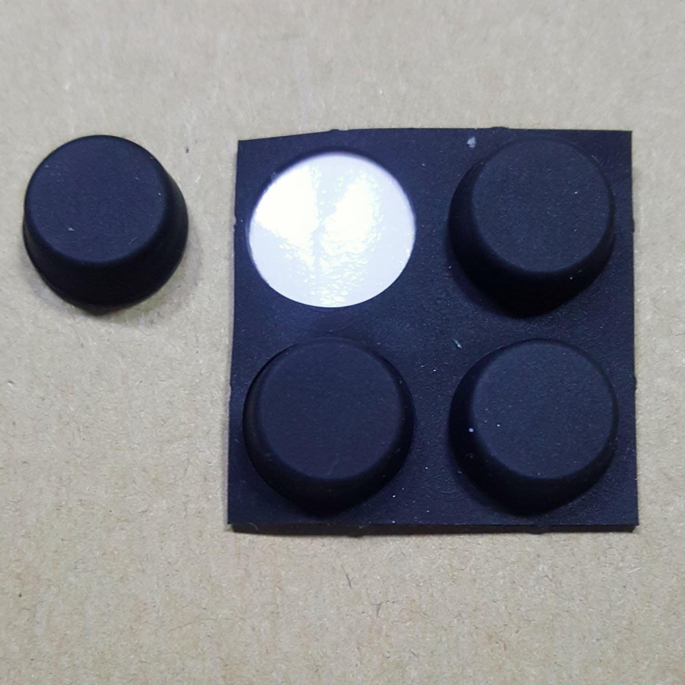 散熱 橡膠腳墊 圓形 直徑 12mm x 厚度 5mm 1包4入   現貨 自黏